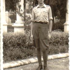 1938 :: José Luis Sampedro en Melilla durante la Guerra Civil.Esta foto fue cedida por el escritor para un reportaje sobre los testigos vivos de la Guerra Civil