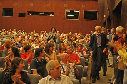 José Luis Sampedro en el salón de actos de la Fundación Juan March