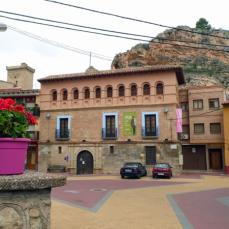 La Casa Palacio alberga en la más alta de sus tres plantas una exposición sobre la figura de José Luis Sampedro.Foto Blog ElPaisQueNuncaSeAcaba